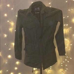 Army green jacket